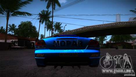 Dodge Viper Mopar Drift pour GTA San Andreas sur la vue arrière gauche