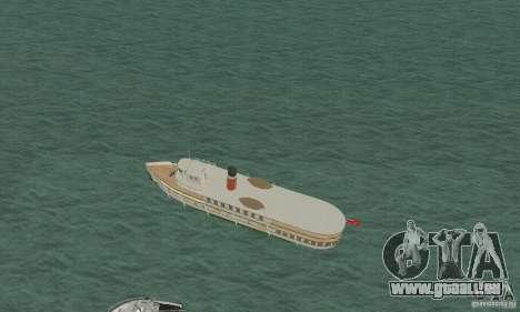 RMS Segwun Ferry für GTA San Andreas zurück linke Ansicht