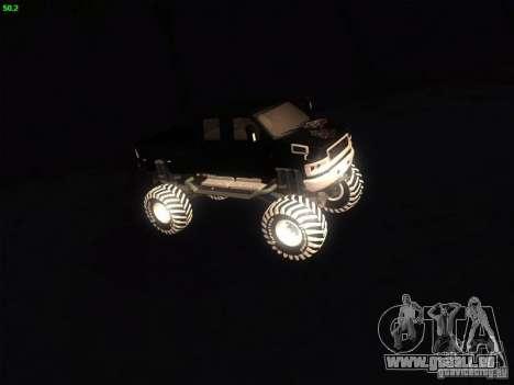 GMC Monster Truck pour GTA San Andreas laissé vue