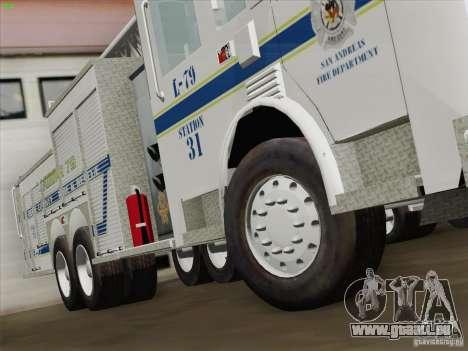 Pierce Puc Aerials. Bone County Fire & Ladder 79 für GTA San Andreas Unteransicht