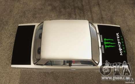 Dérive de Vaz Lada 2107 pour GTA San Andreas vue de droite