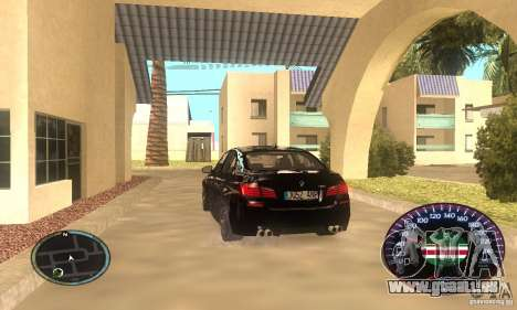 Chechen Speedometr pour GTA San Andreas deuxième écran