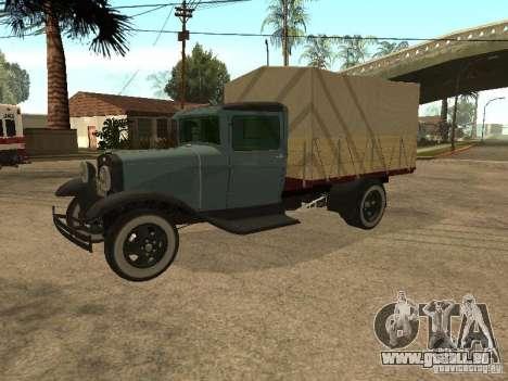 FORD AA pour GTA San Andreas sur la vue arrière gauche