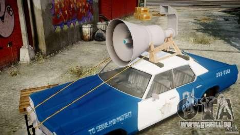 Dodge Monaco 1974 (bluesmobile) für GTA 4 obere Ansicht