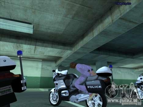 CopBike für GTA San Andreas Innenansicht