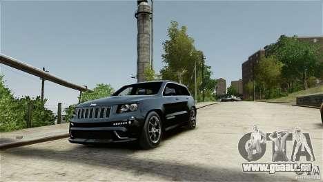 Jeep Grand Cherokee SRT8 für GTA 4 Innenansicht