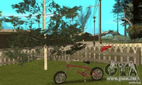 BMX Long 2 New Wheel für GTA San Andreas Rückansicht