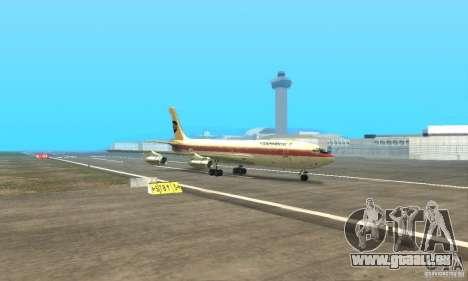 Boeing 707-300 für GTA San Andreas Rückansicht