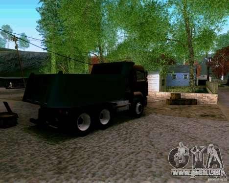 Camion à benne basculante KAMAZ 6520 pour GTA San Andreas laissé vue