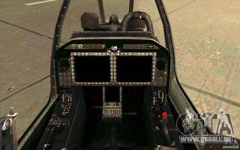 AH-1Z Viper für GTA San Andreas Innenansicht