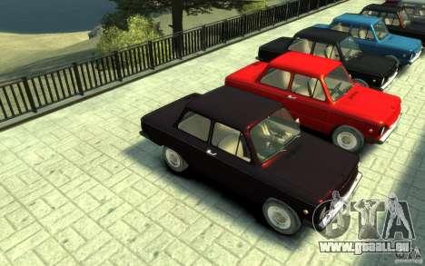 ZAZ 968 m pour GTA 4 Vue arrière