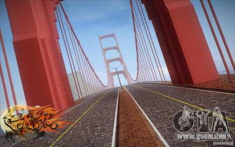 New Golden Gate bridge SF v1.0 für GTA San Andreas dritten Screenshot