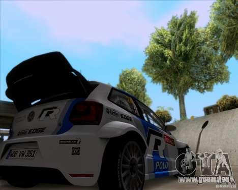 Volkswagen Polo WRC pour GTA San Andreas vue arrière