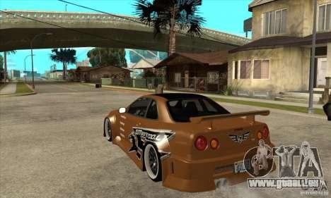 Nissan Skyline GTR - EMzone B-day Car pour GTA San Andreas sur la vue arrière gauche