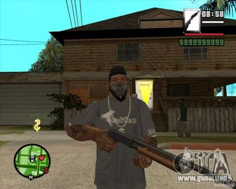 Chromegun pour GTA San Andreas deuxième écran
