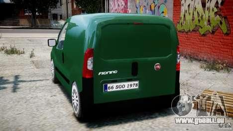 Fiat Fiorino 2008 Van pour GTA 4 Vue arrière de la gauche
