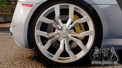 Audi R8 5.2 Stock 2012 Final pour GTA 4 est un côté