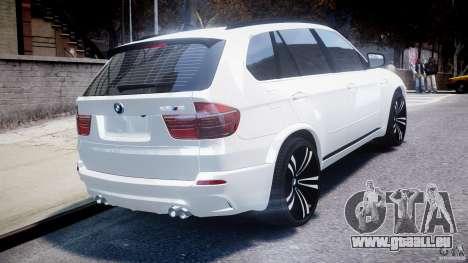 BMW X5M Chrome pour GTA 4 vue de dessus