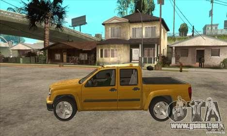 GMC Canyon 2007 pour GTA San Andreas laissé vue
