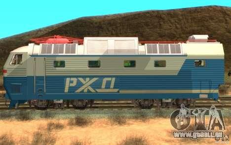 Lokomotiv-Tschs7-082 für GTA San Andreas linke Ansicht