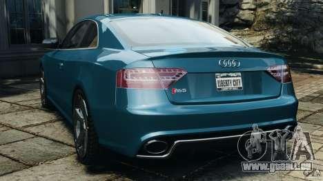 Audi RS5 2011 [EPM] pour GTA 4 Vue arrière de la gauche