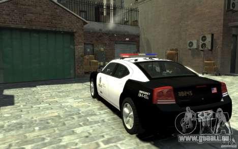 Dodge Charger LAPD V1.6 für GTA 4 hinten links Ansicht
