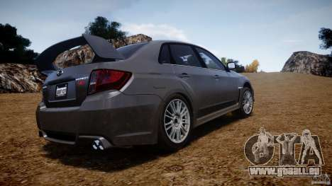Subaru Impreza WRX STi 2011 pour GTA 4 vue de dessus