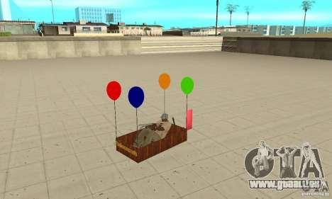 Ballooncraft pour GTA San Andreas vue arrière