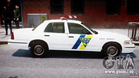 Ford Crown Victoria New Jersey State Police pour GTA 4 Salon