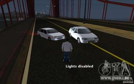 Remote lock car v3.6 pour GTA San Andreas deuxième écran