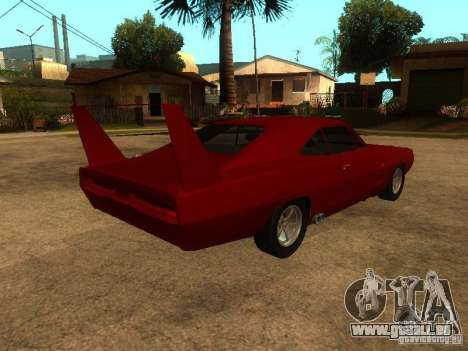 Dodge Charger Daytona Fast & Furious 6 für GTA San Andreas Unteransicht