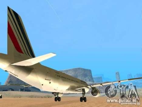 Airbus A320 Air France für GTA San Andreas rechten Ansicht