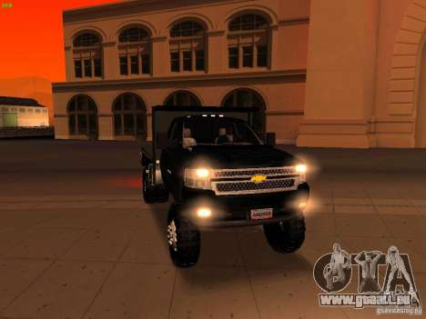 Chevrolet Silverado HD 3500 2012 pour GTA San Andreas salon