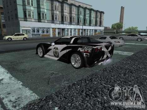 Chevrolet Corvette C6 pour GTA San Andreas moteur