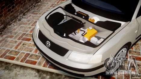 Volkswagen Passat B5 pour GTA 4 est une vue de l'intérieur