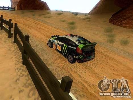 Ford Fiesta RS WRC 2012 für GTA San Andreas rechten Ansicht
