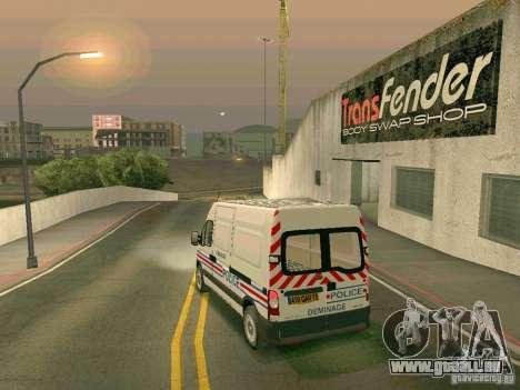 Renault Master pour GTA San Andreas vue de dessous