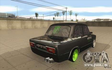 L'écoute de Drift Lada VAZ 2106 pour GTA San Andreas vue de côté