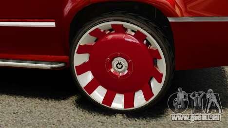 Cadillac Escalade 2011 DUB pour GTA 4 Vue arrière