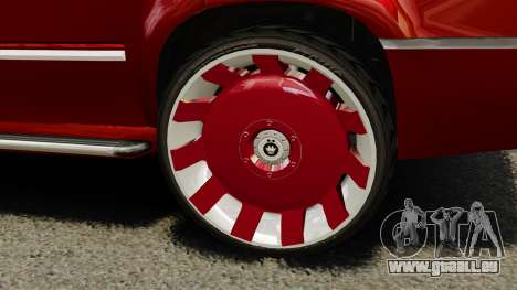 Cadillac Escalade 2011 DUB für GTA 4 Rückansicht