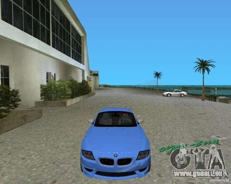BMW Z4 pour GTA Vice City sur la vue arrière gauche