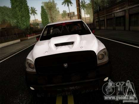 Dodge Ram 1500 4x4 pour GTA San Andreas laissé vue