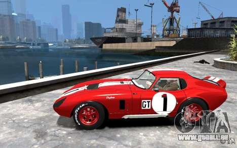 Shelby Cobra Daytona Coupe 1965 pour GTA 4 est une gauche