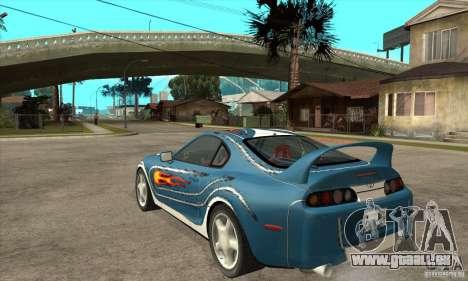 Toyota Supra NFSMW Tunable für GTA San Andreas rechten Ansicht