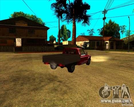 CEP 2345 pour GTA San Andreas sur la vue arrière gauche