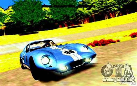 Shelby Cobra Daytona Coupe v 1.0 pour GTA San Andreas laissé vue
