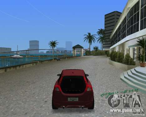 Volvo C30 pour GTA Vice City sur la vue arrière gauche