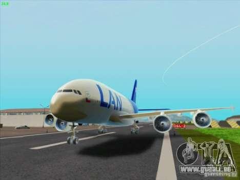 Airbus A380-800 Lan Airlines pour GTA San Andreas laissé vue