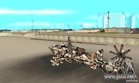 Hydra Hunter für GTA San Andreas zurück linke Ansicht