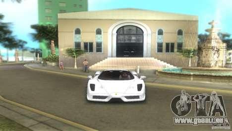 Ferrari Enzo pour GTA Vice City sur la vue arrière gauche